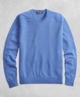 Brooks Brothers Golden Fleece 3-D Knit Cashmere Crewneck Sweater