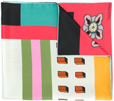 Valentino Garavani Valentino counting print scarf - women - Silk - One Size