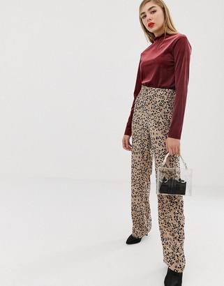 MBYM leopard print trousers