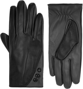 Accessorize Button Detail Leather Gloves