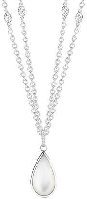 Mother of Pearl Delatori By Alor Delatori Silver Mother-Of-Pearl 36In Necklace