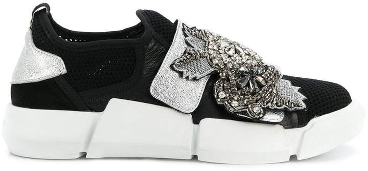Elena Iachi embellished contrast sneakers