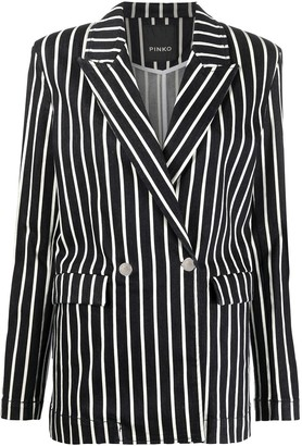 Pinko Striped Fitted Jacket