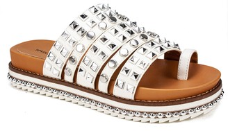 Seven Dials by White Mountain Studded Slide Sandals - Belmar