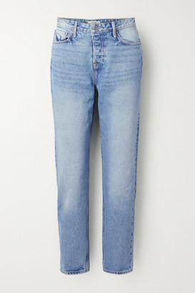GRLFRND Devon High-rise Straight-leg Jeans - Blue