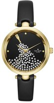 Kate Spade Holland Crystal Dial Leather Strap Watch, 34mm