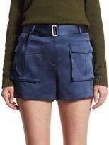 Theory Vasilica Silk Mini Shorts