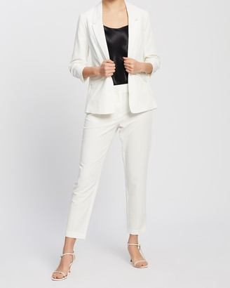 Dorothy Perkins Ruched Sleeve Blazer Jacket