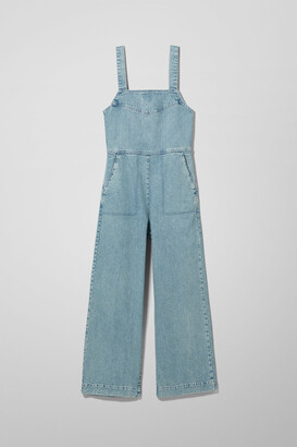 Weekday Junip Seven Blue Denim Jumpsuit - Blue