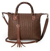Eric Javits 'Hilsey' Woven Satchel - Brown