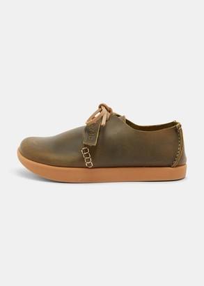 Yogi Footwear - Yogi x YMC Orson Tumbled Leather Negative Heel Olive Shoes - 38 / 5