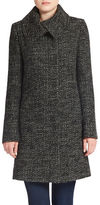 Jones New York Tweed Wool-Blend Coat