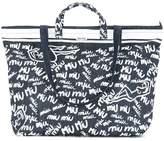 Miu Miu logo printed tote bag