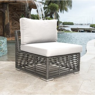 Panama Jack Graphite Modular Patio Chair with Cushion Outdoor
