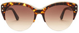 Tod's Women's Cat Eye Clubmaster Plastic Frame Sunglasses