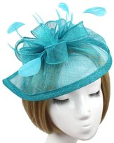 MaliaDress Feather Veil Cocktail Fascinator Hat Wedding Party M004TS