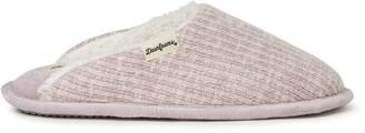 Dearfoams Womens Bailey Knit Scuff Slippers