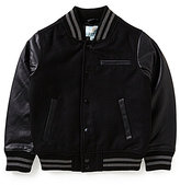 Class Club Big Boys 8-20 Flannel Varsity Jacket