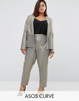 Asos Metallic Slim Leg High Waist Pant