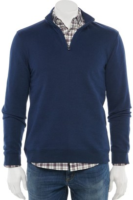 Croft & Barrow Men's Easy-Care Extra-Soft Quarter-Zip Fleece Pullover