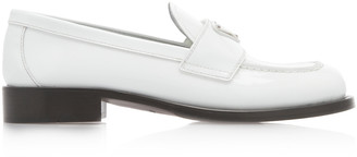 Prada Logo-Detailed Patent Leather Loafers