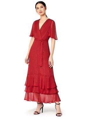 Amazon Brand - TRUTH & FABLE Women's Ruffle Hem Dress