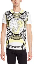 Versace Men's All Over Graphic Patterned Crew Neck T-Shirt
