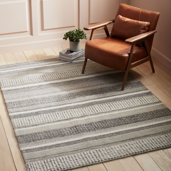Thumbnail for your product : John Lewis & Partners Mosserud Stripe Rug, Grey, L240 x W170cm