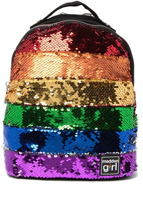 Madden-Girl Mini Sequin Canvas Backpack