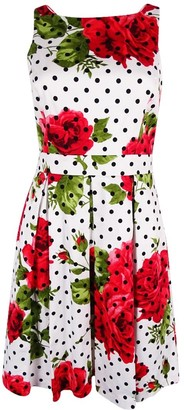 Jessica Simpson Women's Printed Bow Back Dress 12