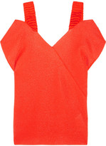 Victoria Beckham Off-the-shoulder Stretch-knit Top - Bright orange