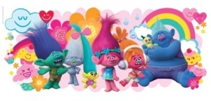 York Wall Coverings York Wallcoverings Trolls Movie Peel and Stick Giant Wall Decals