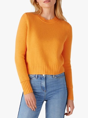 Pure Collection Cashmere Round Neck Sweater, Apricot