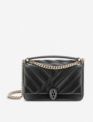 Bvlgari Serpenti Cabochon leather shoulder bag