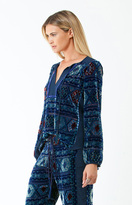Hale Bob Nell Silk Burnout Tunic In Navy