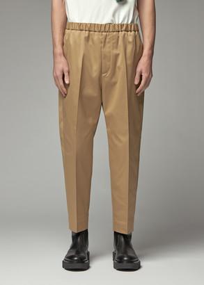 Jil Sander Men's Priamo Drill Trouser Pants in Light Pastel Brown Size 50 Polyester/Cotton