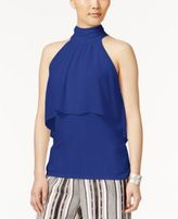 Cable & Gauge Cupio By Chiffon-Overlay Top