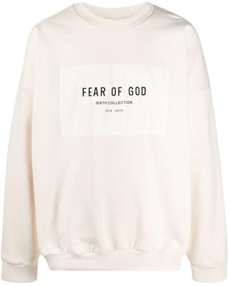 Fear Of God Long Sleeve Logo Print Sweatshirt