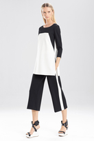 Josie Natori Double Knit Jersey 34 Sleeve Color Block Tunic