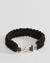 ICON BRAND Woven Bracelet In Black