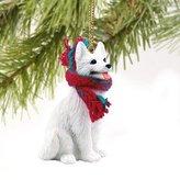 Mini A Ture 1 X German Shepherd Miniature Dog Ornament - White