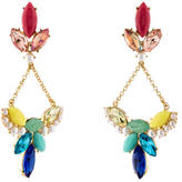 Lulu Frost Crystal & Pearl Drop Earrings