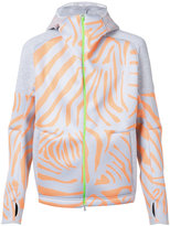 adidas tiger print zipped hoodie - men - Polyester - XS