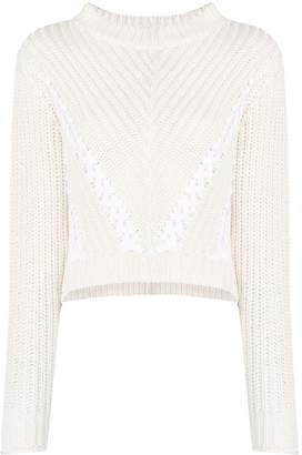3.1 Phillip Lim Cropped Knitted Jumper