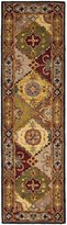 "Safavieh Heritage Collection HG512B Handmade Multi and Red Wool Runner, 2 feet 3 inches by 22 feet (2'3"" x 22')"