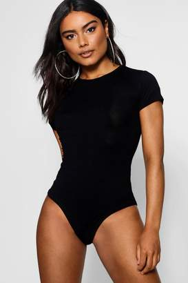 boohoo Basic Scoop Neck Short Sleeve Bodysuit