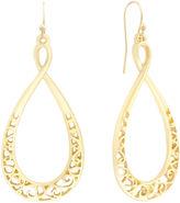 Liz Claiborne Gold-Tone Scroll Teardrop Earrings