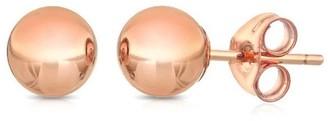 Pori 14k Rose Goldplated Sterling Silver 5mm Ball Stud Earrings