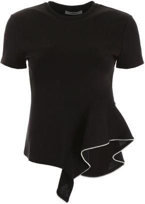 Area Asymmetric Ruffle T-Shirt