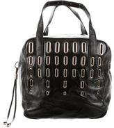 Jimmy Choo Embellished Patent Shoulder Bag